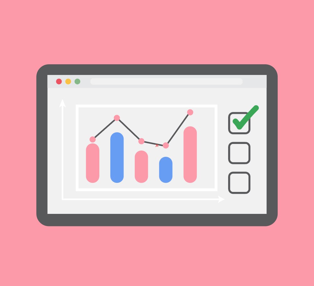 Image of a screen looking at analytics